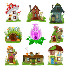 Fantasy House Vector Cartoon F...