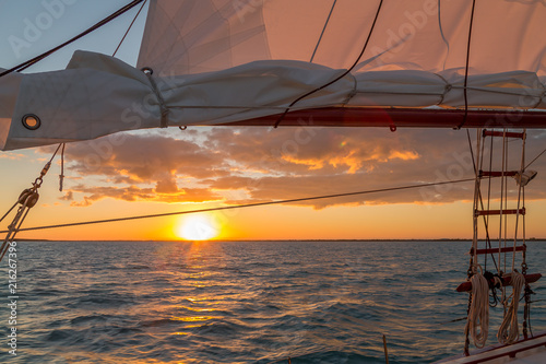 Sailing in the Keys Waiting for Sunset