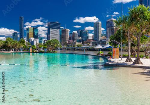 Foto op Plexiglas Oceanië Streets Beach in South Bank Parkland, Brisbane, Queensland