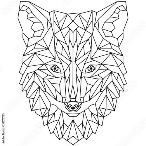Mozaika Fox Wolf