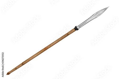 Fotomural ancient spear isolated on white background