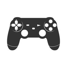 Video Game Controller. Wireless Gamepad. Vector Illustration.