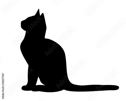 Fotografija Cat silhouette vector pictogram