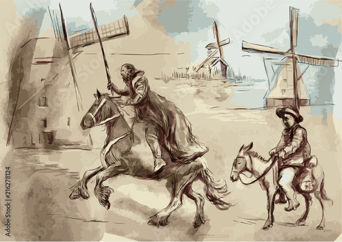Fotomural Don Quixote - An hand painted vector illustration