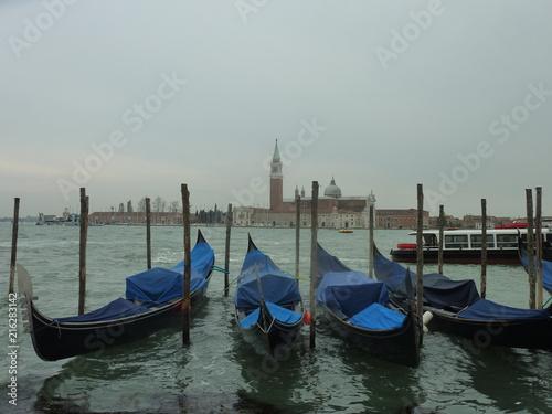 Spoed Foto op Canvas Gondole - Venise - grand canal