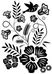 Naklejka Do salonu Abstract flower graphic design.