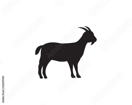 Photo Goat Logo Template vector icon