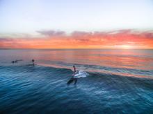 Surfing - Longboard Sunset