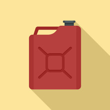 Gas Canister Icon. Flat Illust...