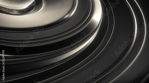 Fototapety czarne - bardzo ciemne czarne-abstrakcja-3d
