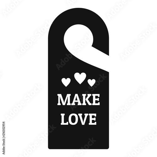 Make love hanger tag icon Poster