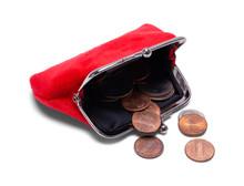 Change Purse With Coins Spilt
