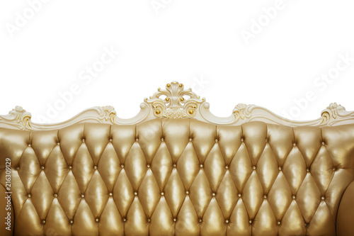 Super Back Of A Vintage Sofa With Gold Upholstery On A White Ocoug Best Dining Table And Chair Ideas Images Ocougorg
