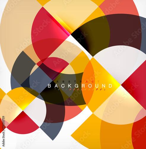 Staande foto Hoogte schaal Modern circle abstract background