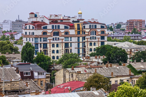 Deurstickers Amsterdam Odessa city modern houses, Ukraine