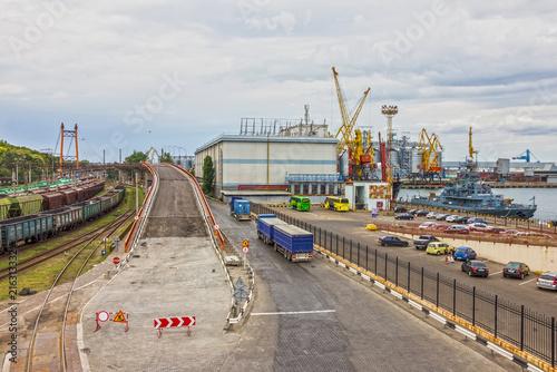 Fotobehang Poort Ukraine. Odessa sea commercial port.