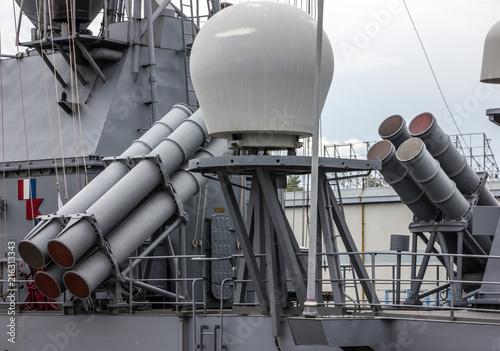 Photo Military vessel weapon, NATO ship in Odessa, Ukraine