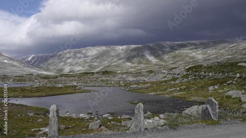 In de dag Scandinavië Gamle Strynefjellsvegen, Landschaftsroute übers Fjell, Norwegen