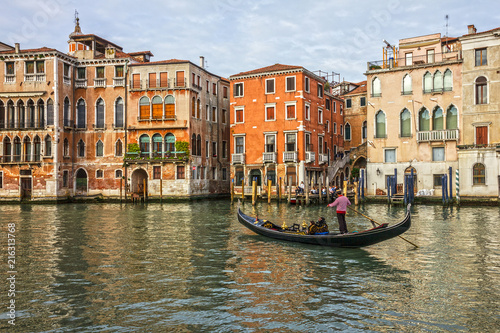 Fotobehang Praag Venice, Italy. Grand canal architecture in Venice.