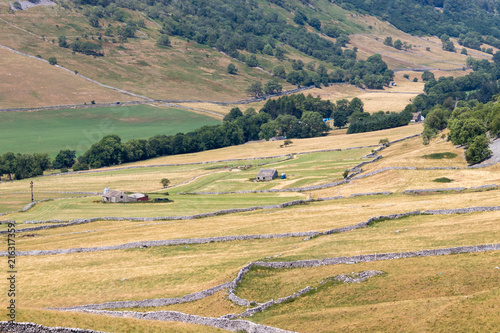 Foto op Canvas Beige CONISTONE, YORKSHIRE/UK - JULY 27 : View of a farm near Conistone in Yorkshire on July 27, 2018