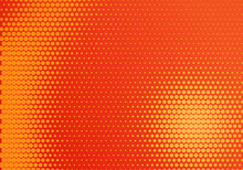 Red And Yellow Radial Halftone Dot Background