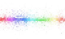 Abstract Rainbow Halftone Mosaic Template