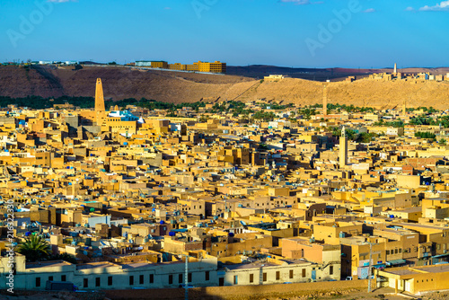 Keuken foto achterwand Historisch geb. View of Ghardaia, a city in the Mzab Valley. UNESCO world heritage in Algeria