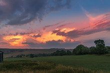 Sky At Dusk In The Yorkshire Dales National Park Near Malham