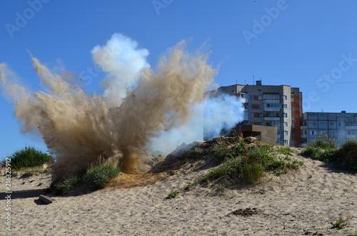 Valokuvatapetti взрыв