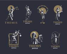 The Goddess Of Justice Themis....