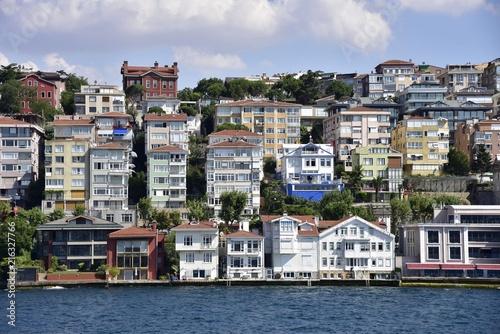 Poster Ville sur l eau Waterfront houses of Bosphorus - istanbul