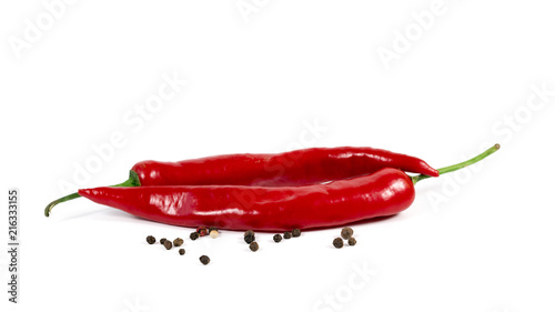Staande foto Hot chili peppers Chili pepper on a white background