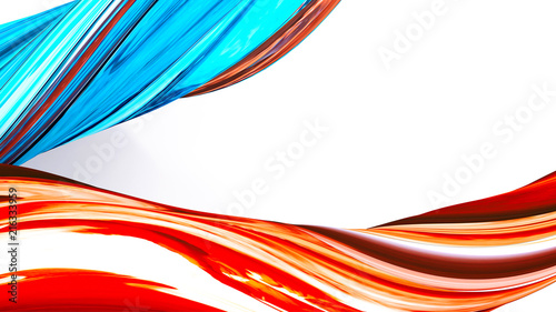 Abstract colorful orange and blue background
