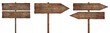 old weathered wood signs, arrows and signposts