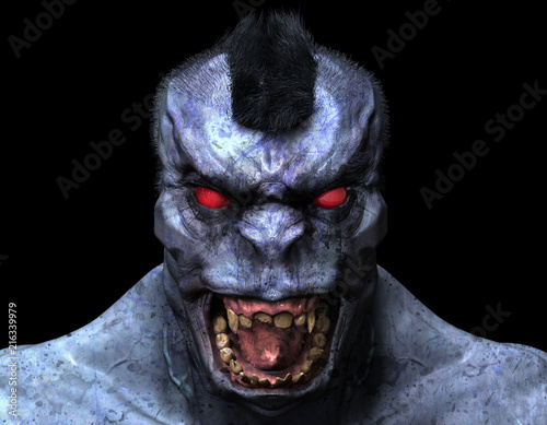 Photo Scary Mohawk Beast Creature