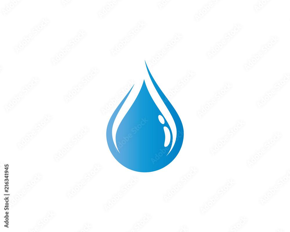 Fototapeta Water drop symbol illustration