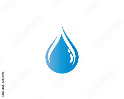 Water drop symbol illustration Fotobehang