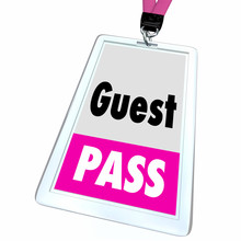 Guest Pass Ticket Special Access Badge 3d Illustration