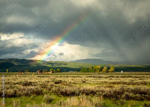 Photo  Jackson Hole Rainbow