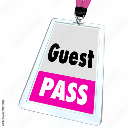 Guest Pass Ticket Special Access Badge 3d Illustration Canvas Print