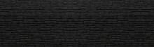 Panorama Of Black Stone Wall Background