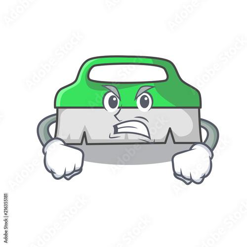 Photo Angry scrub brush mascot cartoon
