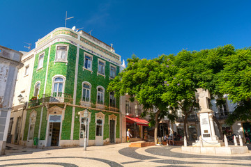typical portuguese architecture on old town in Lagos , Algarve , Portugal