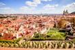 Aussicht von der Prager Burg auf die Altstadt in Sommer in Prag, Tschechische Republik