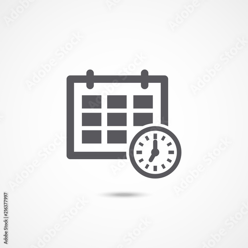 Schedule icon on white Wallpaper Mural
