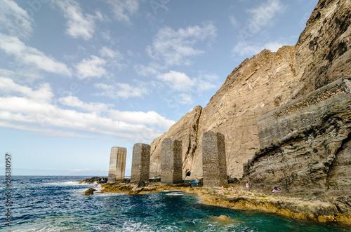 Tuinposter Canarische Eilanden Stone towers in La Gomera island, Canary islands
