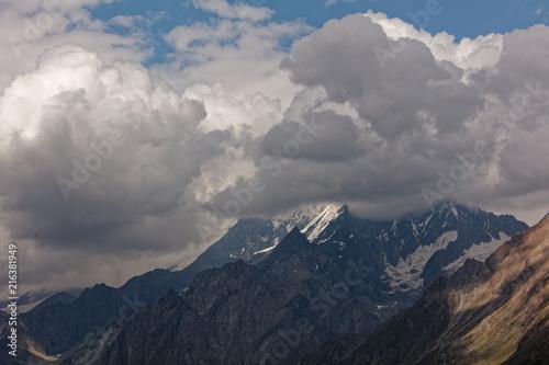 Fotobehang Grijze traf. Sunny day in Zermatt, Switzerland