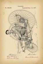1887 Patent Velocipede Tricycl...