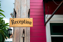 Wooden Reception Sign At The F...