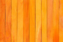 Orange Wood Fence Plank Textur...